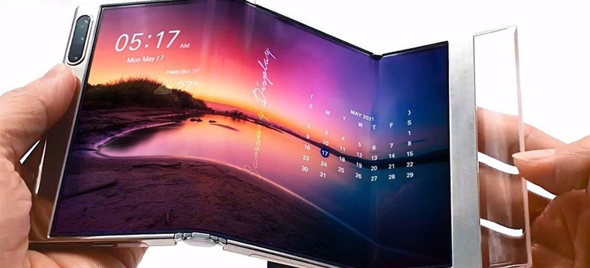 تعرض Samsung شاشات جديدة مرنة وقابلة للطي في الحدث 1