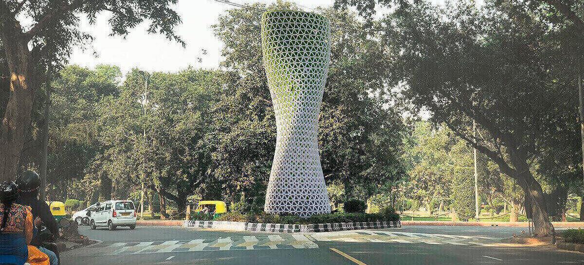 تقوم الشركة بتطوير أبراج تنقية الهواء في عاصمة الهند 1
