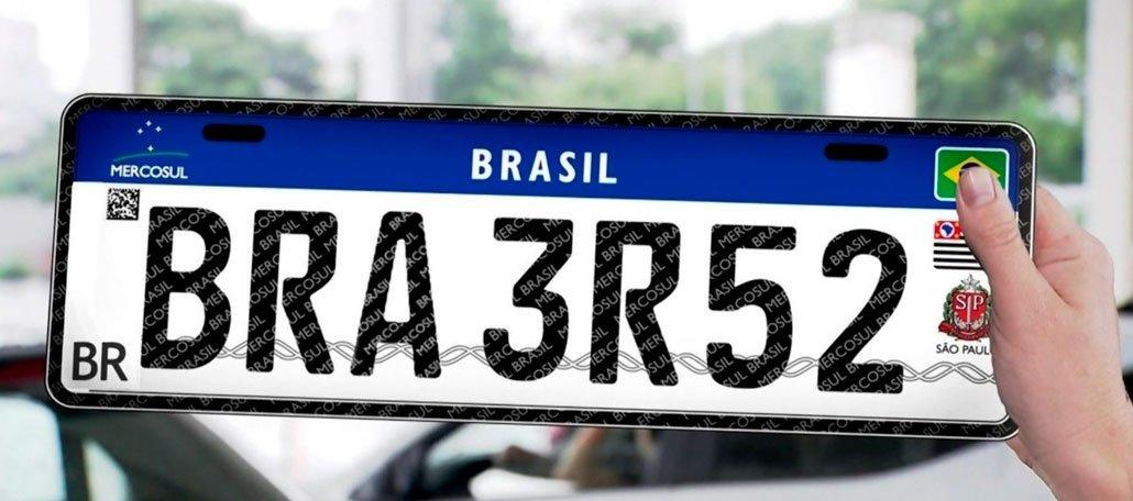 تم تعليق لوحة ترخيص New Mercosur المزودة بشريحة ورمز QR مؤقتًا في البرازيل 1