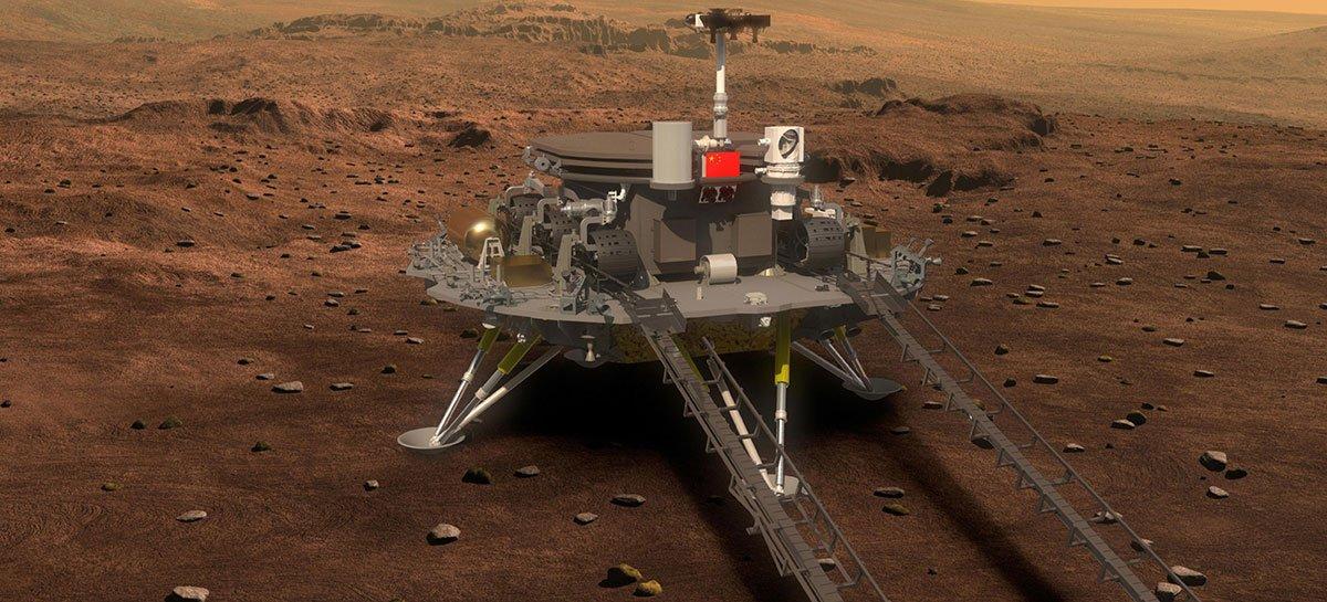 روفر زورونج الصيني يستكشف المريخ بعد أسبوع من هبوطه 1
