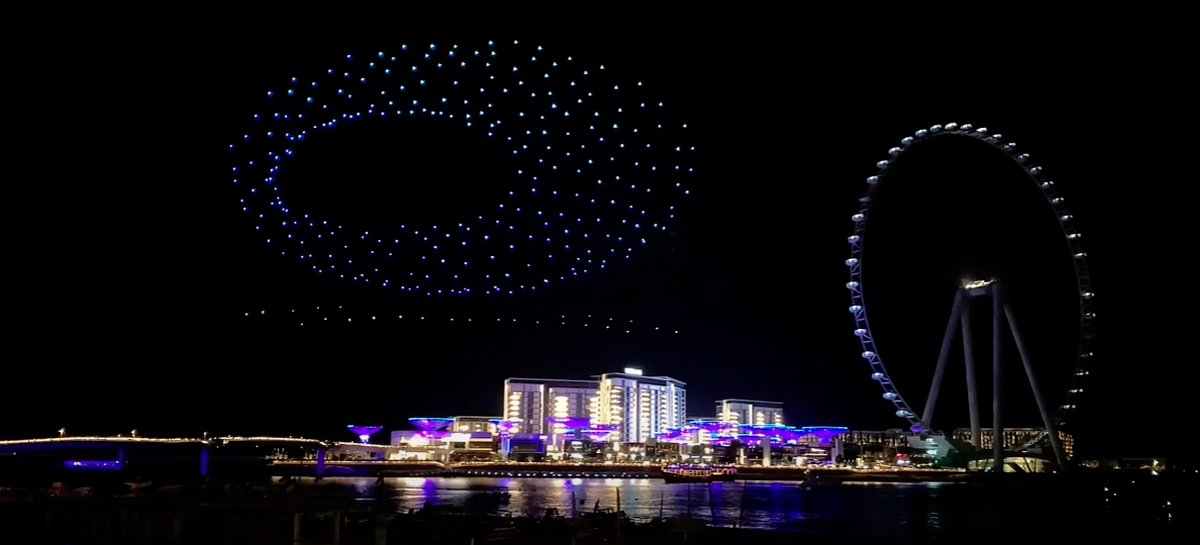 شاهد الفيديو الجميل لمهرجان دبي للتسوق 2020/2021 ضوء الطائرات بدون طيار! 1