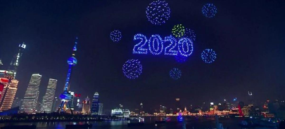 عرض الطائرات بدون طيار للعام الجديد في شنغهاي لم يحدث على الهواء مباشرة 1