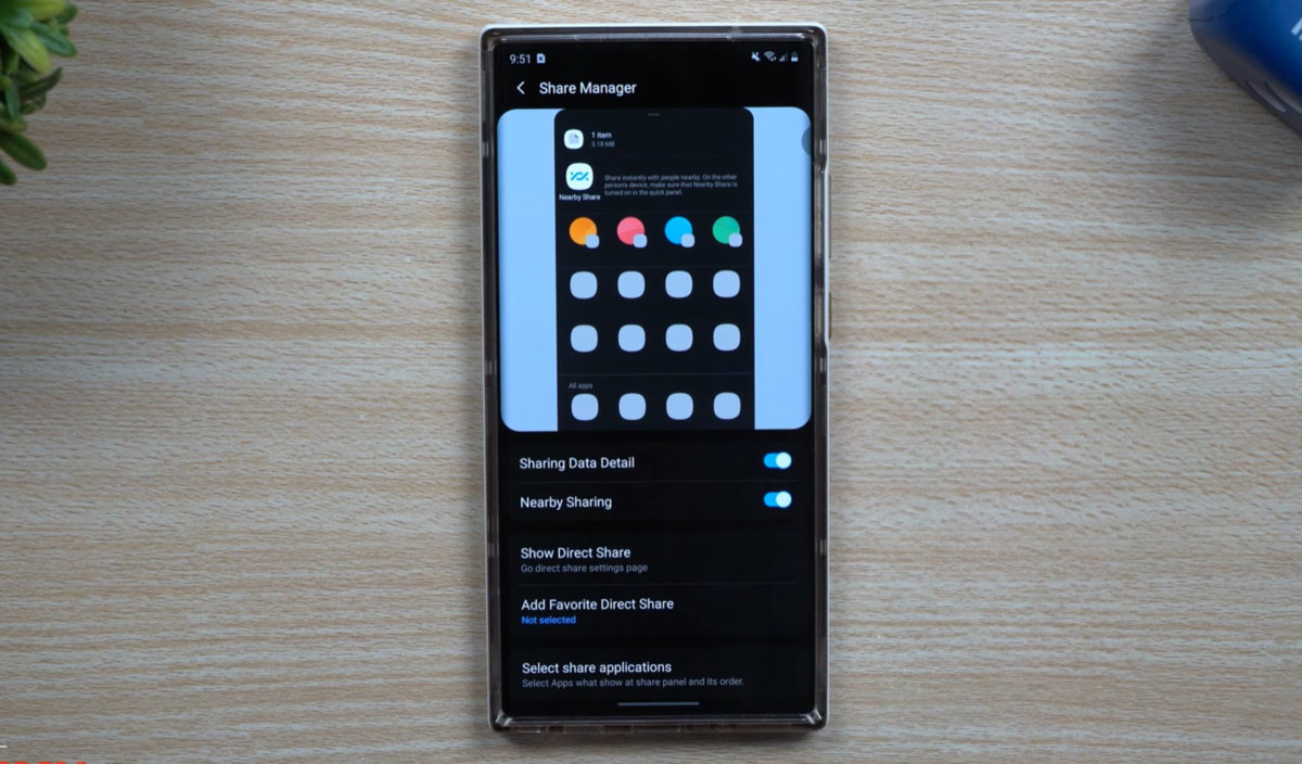 قم بتنزيل Share Manager APK بواسطة Samsung عبر وحدة Home Up Good Lock 2021 1