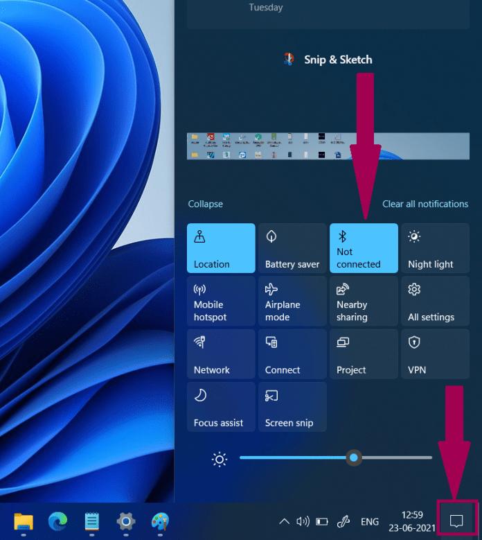 كيفية تشغيل البلوتوث Windows 11