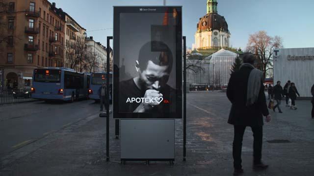 لمكافحة التدخين في السويد ، تقوم إحدى الحملات بإنشاء لافتة تتفاعل مع المدخنين القريبين 1