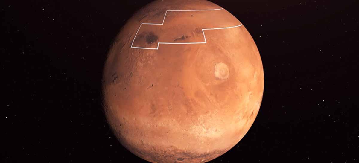ناسا تنشر خريطة بالأماكن التي يمكن الوصول إلى الماء فيها على المريخ 1