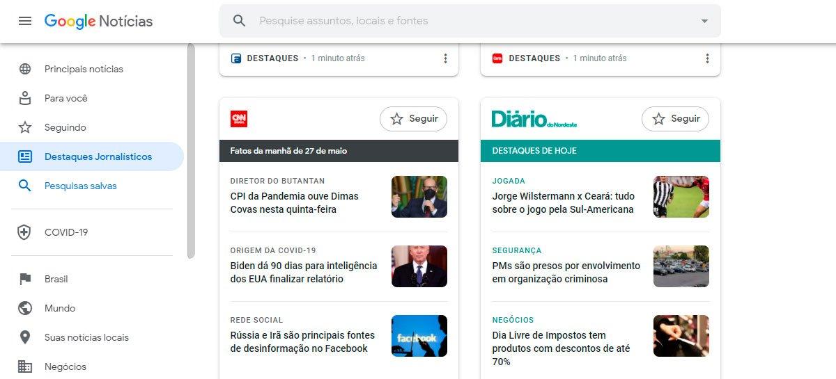 وصول أحدث أخبار Google لأجهزة سطح المكتب في البرازيل 1