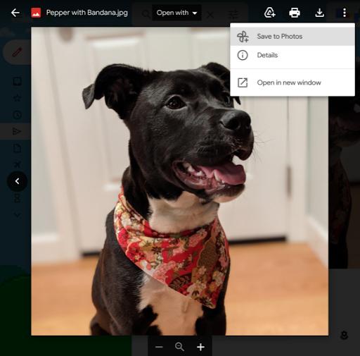 يتيح لك Gmail الآن حفظ الصور مباشرة في صور Google 2