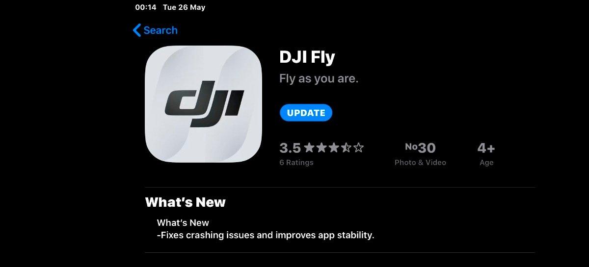يوفر الإصدار الجديد v1.2.2 من تطبيق DJI Fly الآن مؤشر الارتفاع للطائرات بدون طيار 1