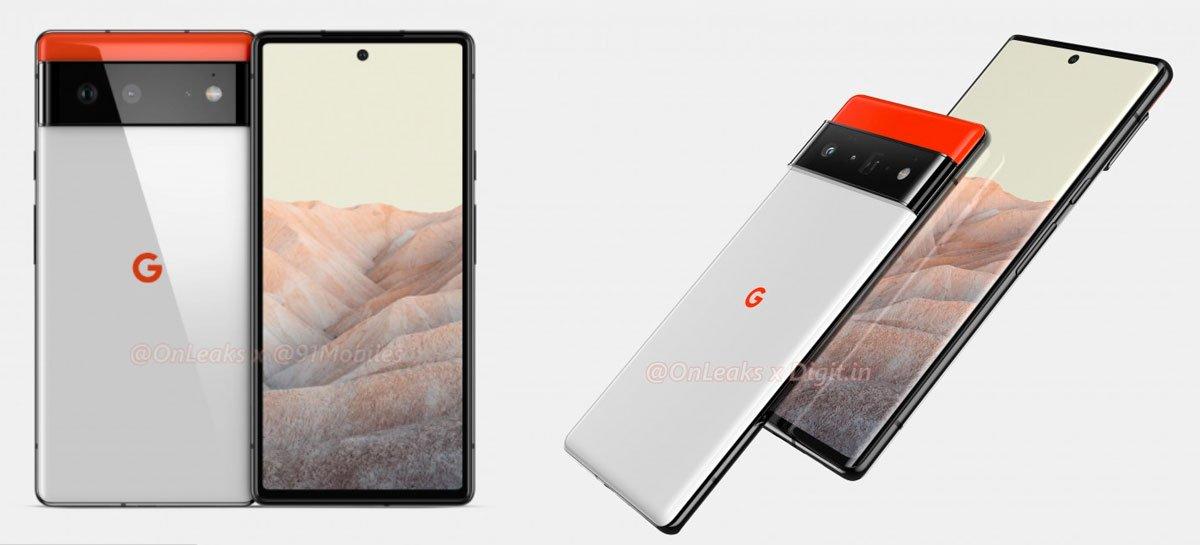 يُظهر Renders تصميم Google Pixel 6 و Pixel 6 Pro 1