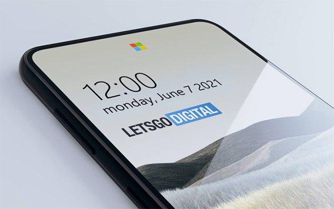 براءة اختراع Microsoft تكشف عن الكاميرا أسفل العرض في شكل الشعار 2