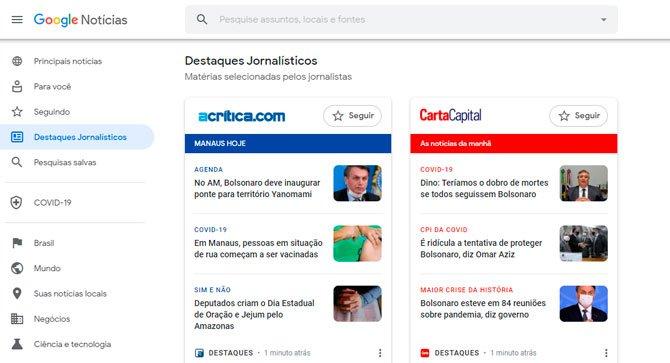 وصول أحدث أخبار Google لأجهزة سطح المكتب في البرازيل 2