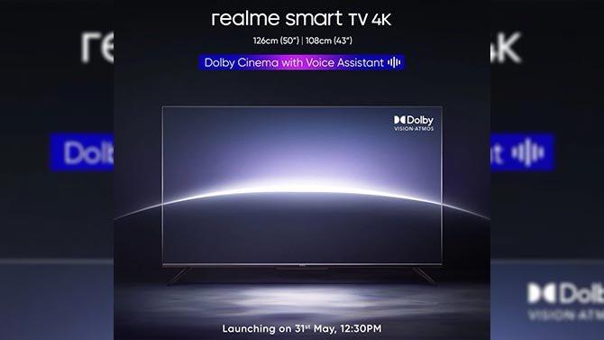ستطلق Realme تلفزيونها الذكي الجديد بدقة 4K في الهند في 31 مارس 2