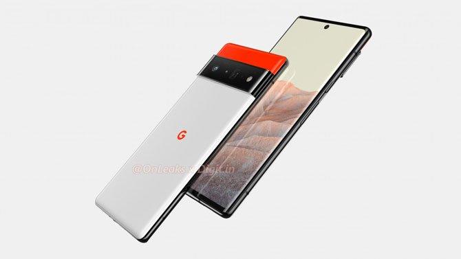 يُظهر Renders تصميم Google Pixel 6 و Pixel 6 Pro 3