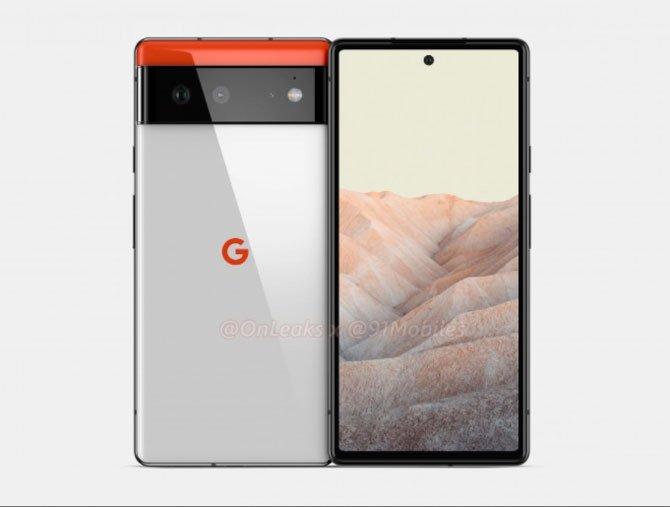يُظهر Renders تصميم Google Pixel 6 و Pixel 6 Pro 5