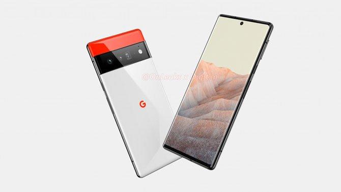 يُظهر Renders تصميم Google Pixel 6 و Pixel 6 Pro 4