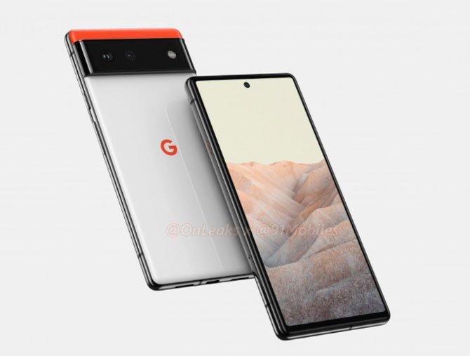 يُظهر Renders تصميم Google Pixel 6 و Pixel 6 Pro 8