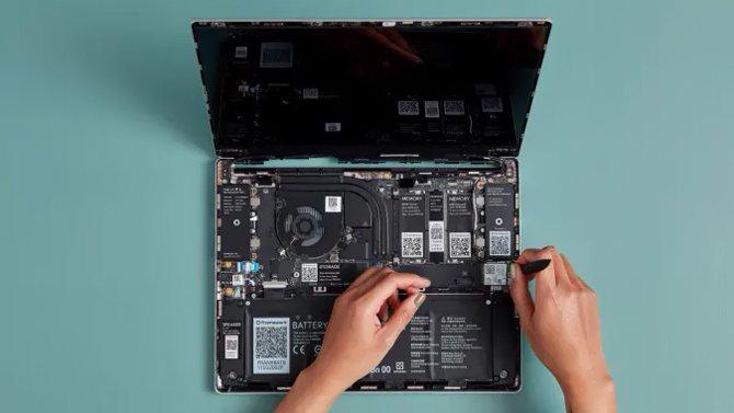 يعمل الكمبيوتر الدفتري المعياري سهل الصيانة في Framework على الطلب المسبق