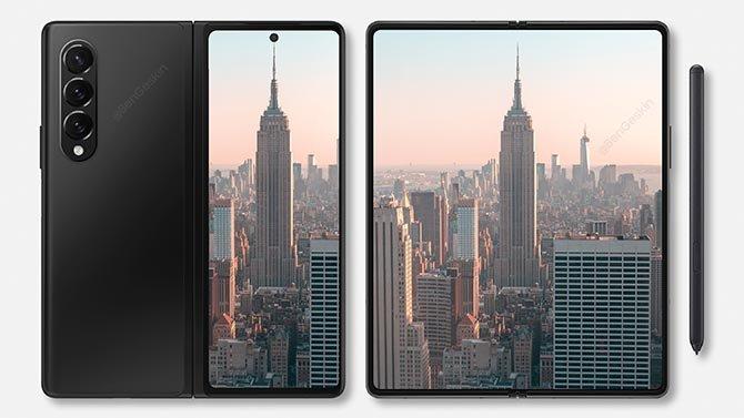 انظر إلى مفهوم الفن الجديد Galaxy ض Fold 3 و Galaxy Z Flip 3 2