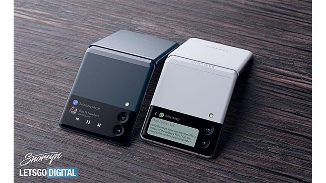 انظر إلى مفهوم الفن الجديد Galaxy ض Fold 3 و Galaxy Z Flip 3 3