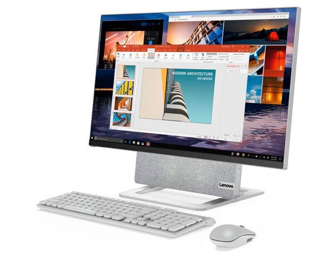 تتميز Lenovo بشاشات Yoga AIO 7 و L24i-30 و L27e-30 و LAVIE Pro Mobile و LAVIE MINI 2