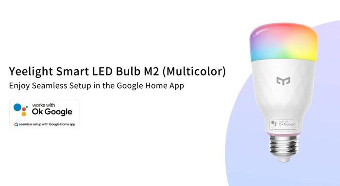 يمكن التحكم بالصوت Yeelight Smart LED Bulb M2 عبر الإعداد السلس لـ Google Home 2