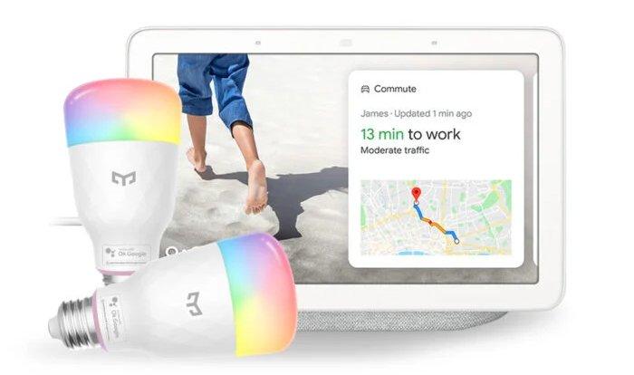 يمكن التحكم بالصوت Yeelight Smart LED Bulb M2 عبر الإعداد السلس لـ Google Home 3