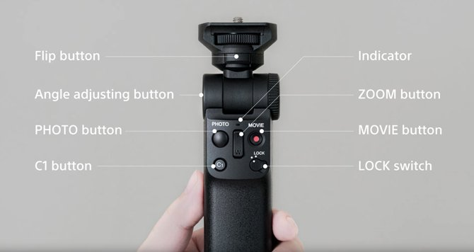 Sony GP-VPT2BT هو حامل كاميرا مزود بخاصية اتصال Bluetooth