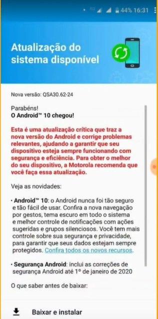يبدأ Motorola One Action في تلقي التحديث لنظام Android 10