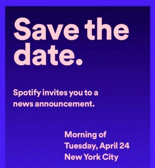 ينظم Spotify حدثًا ليوم 24 أبريل بدعوة غامضة 2