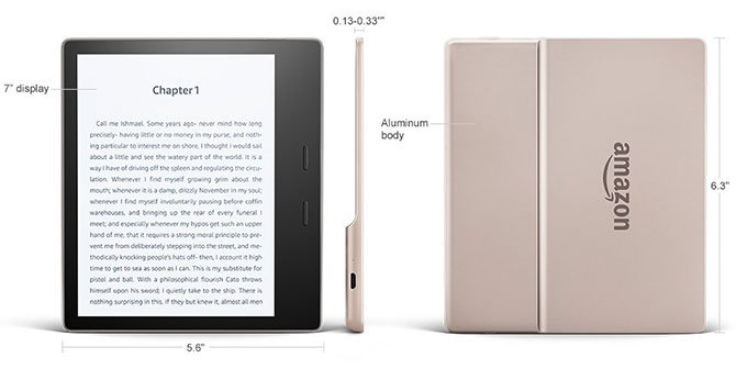 Amazon رمح Kindle واحة بلون ذهبي جديد 2