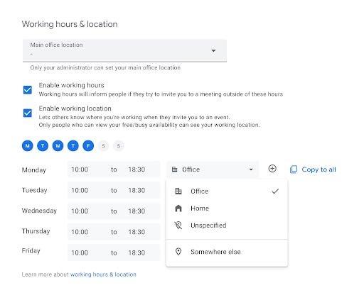 يكتسب تقويم Google ميزة مشاركة الموقع 2